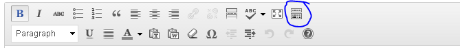 "Click this button to expand the ""Kitchen Sink"" editing toolbar."